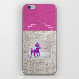 poloplayer grey-mauve iPhone Skin