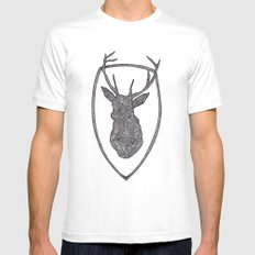 DEER Mens Fitted Tee MEDIUM White