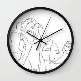 Fashion illustration drawing - Caleb Wall Clock