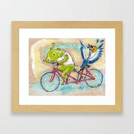 An Interspecies Pantsless Joyride Framed Art Print