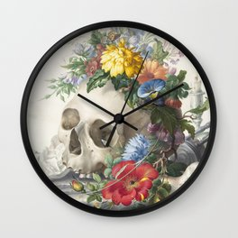 Vanitas Still Life by Herman Henstenburgh - Death and Life Wall Clock