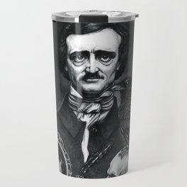 Edgar Allan Poe Portrait Travel Mug