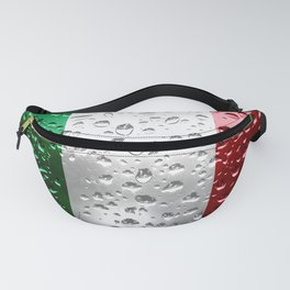 Flag of Italy - Raindrops Fanny Pack