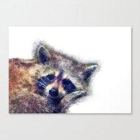 raccoon Canvas Prints featuring Raccoon  by jbjart