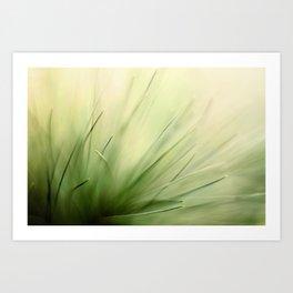 Abstract Pine Needles Art Print