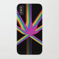 """cannabis iPhone & iPod Cases featuring Rainbow Cannabis by """"LSC"""""""
