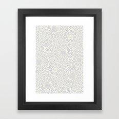 Moroccan tiles Framed Art Print