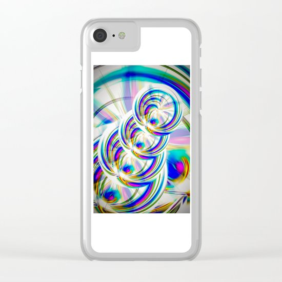 Abstract Perfection 22 Clear iPhone Case