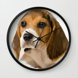 Beagle Pup Wall Clock