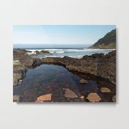 Cape Perpetua Tide Pool Metal Print