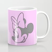 minnie mouse Mugs featuring Minnie Mouse by tshirtsz