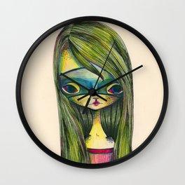 Green Girl Wall Clock