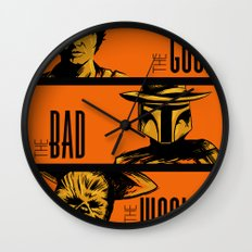 The Good, the bad and the wookiee Wall Clock