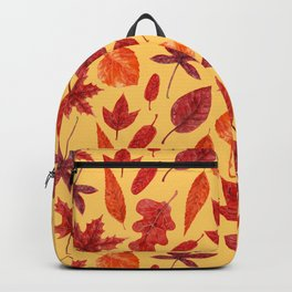 Red autumn leaves watercolor Backpack