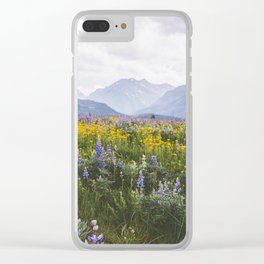 Waterton Wildflowers Clear iPhone Case
