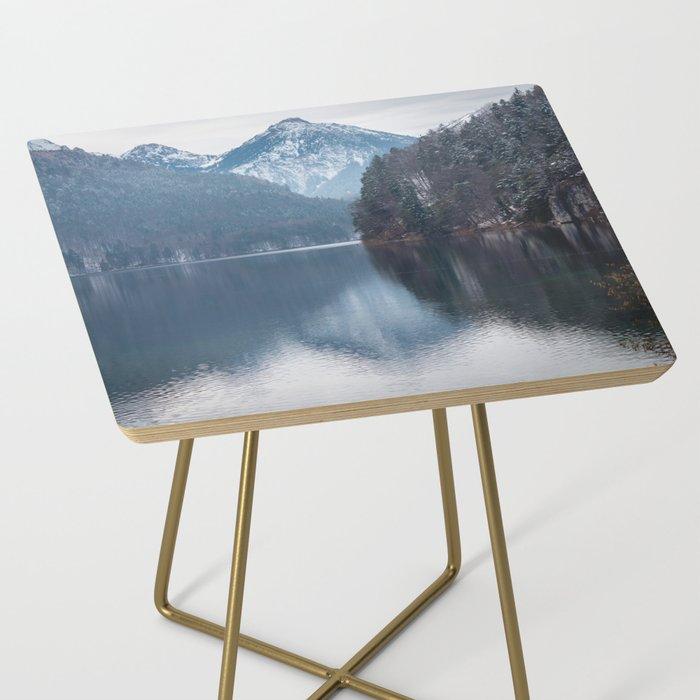 Beautiful lake, Bavarian alps Side Table