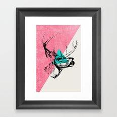 Techno Deer Framed Art Print