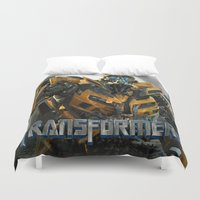 transformers Duvet Covers featuring transformers by store2u