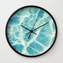 Poolside prism Wall Clock