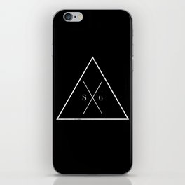 The Society Six (White Graphic) iPhone Skin