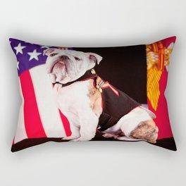 Bulldog Navy Official Mascot Dog Rectangular Pillow