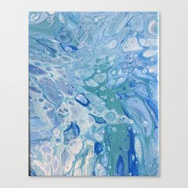 Under The Sea Abstract Bubble Art Canvas Print