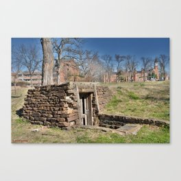 Cherokee Nation - Hendricks Spring, the Site Selected for Seminary Hall, after the first burned, #2 Canvas Print