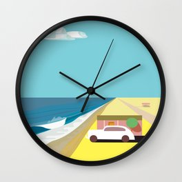 Mar de Cortez (square) Wall Clock