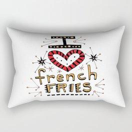 I Love French Fries Rectangular Pillow