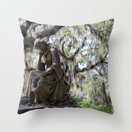 Lady Under the Oaks Throw Pillow