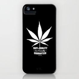 Cannabis - 100% Quality Guaranteed - Eco Friendly - Retro label iPhone Case