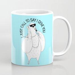 Dove singing Stevie Wonder | Animal Karaoke | Illustration | Blue Coffee Mug