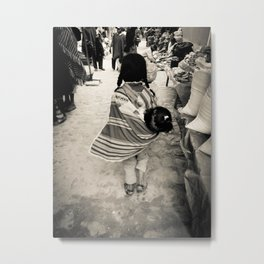 Sisterly Love in Tarabuco Market Metal Print
