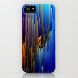 Rise Up - Abstract Pixel Glitch Art iPhone Case