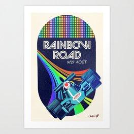 Rainbow Road Grand Prix Art Print