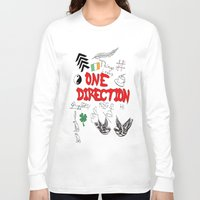 tattoos Long Sleeve T-shirts featuring One Direction Tattoos by xanoukgeelen