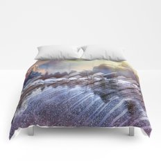 Winter Sun Rays Abstract Nature Comforters