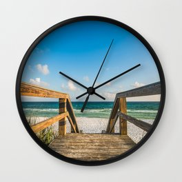 Head to the Beach - Boardwalk Leads to Summer Fun in Florida Wall Clock