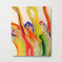 Rainbow Girls Metal Print