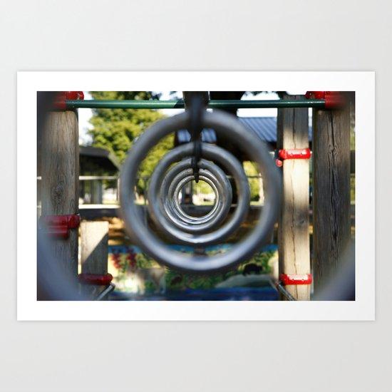 Through the Park Rings Art Print