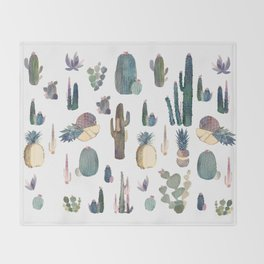 My best Cactus and Pineapples!!!! Throw Blanket
