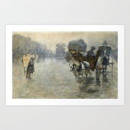 Pieter de Josselin de Jong - Horse Drovers and Wagons - Dutch Victorian Retro Vintage Oil Painting Art Print
