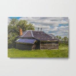 Unusual Abandoned Building, Burleigh County, ND 3 Metal Print