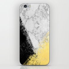 Marble with Black & Gold - gold foil, gold, marble, black and white, trendy, luxe, gold phone iPhone & iPod Skin