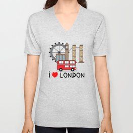 I love London Unisex V-Neck