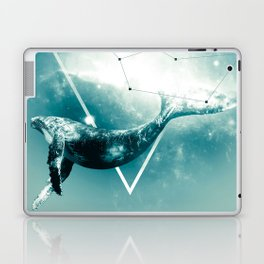 The Whale - Blu Laptop & iPad Skin