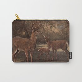 Vintage Virginia Deer Painting (1909) Carry-All Pouch