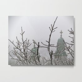 Ice and Fog in Portland, Maine (2) Metal Print