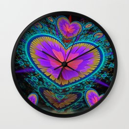 Colourful Lots of Love Wall Clock