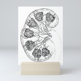 Anatomy Series: Kidney Renal Flowers Mini Art Print
